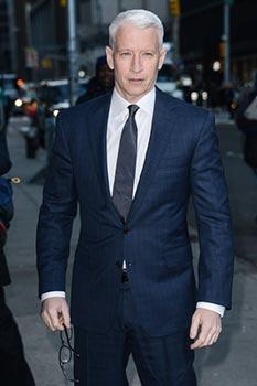Anderson Cooper - férfi frizura