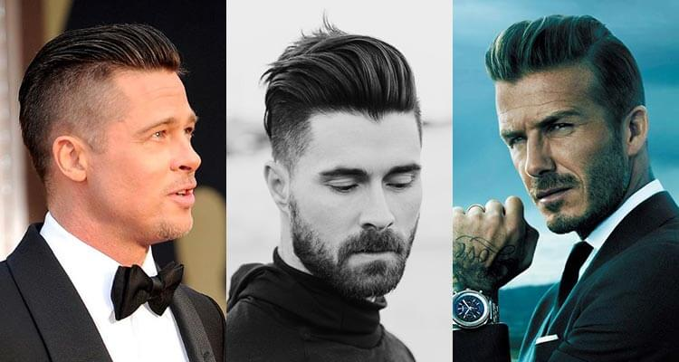 hátrafésült férfi frizura