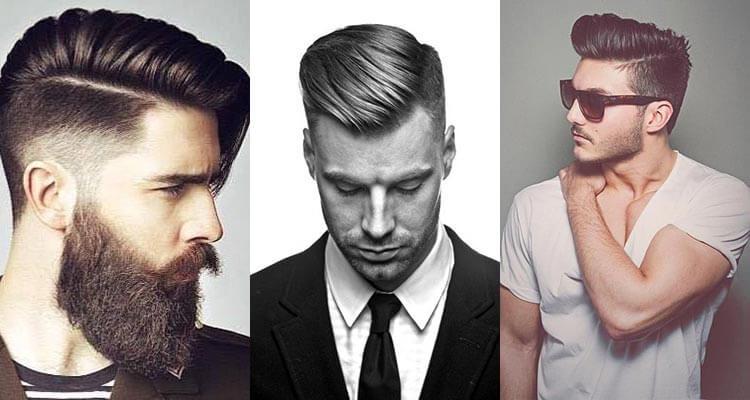 oldalra fésült férfi frizura