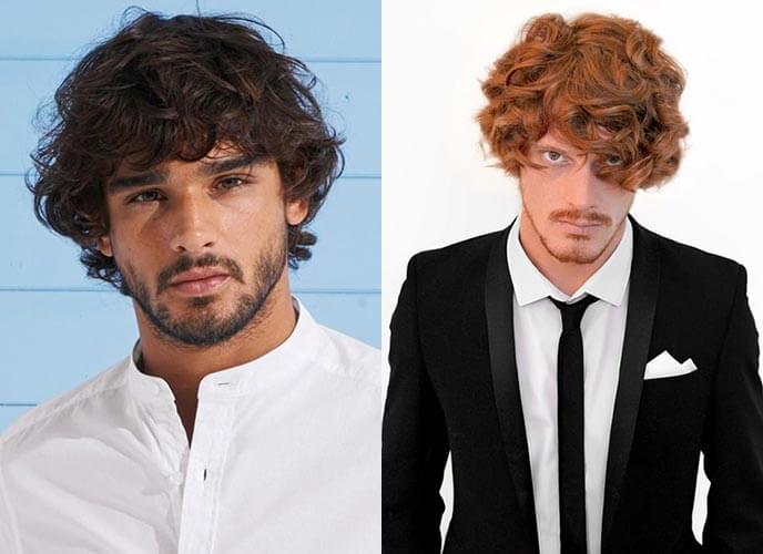 férfi frizura - göndör haj