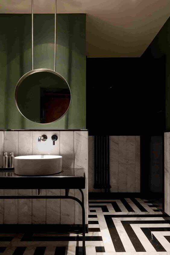 fürdőszoba - zöld - lakberendezés