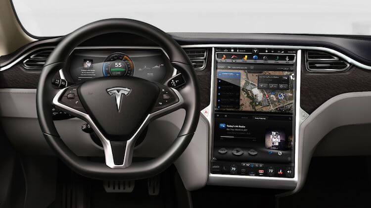 Tesla Model S műszerfal - Tesla - férfimagazin