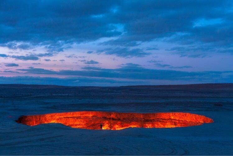 Darvaza-kráter, Türkmenisztán