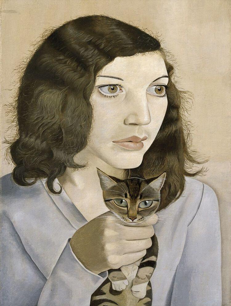 Lucian Freud: Lány kismacskával, 1947