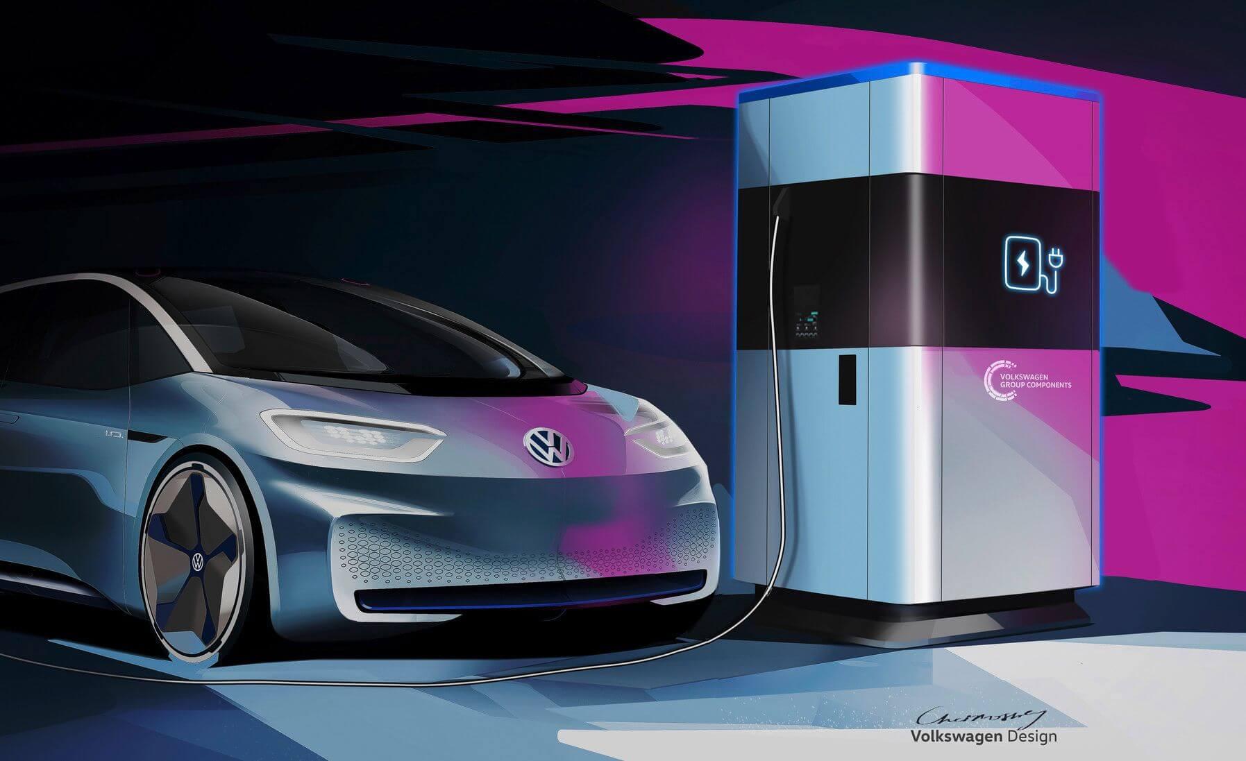 Volkswagen mobil töltőállomás