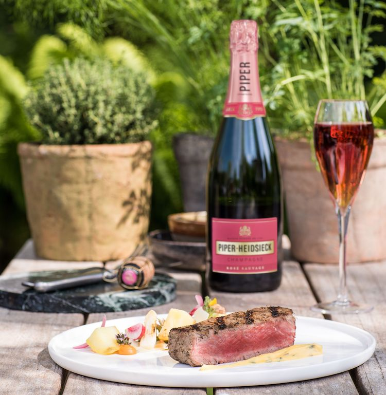 rose - champagne - piper