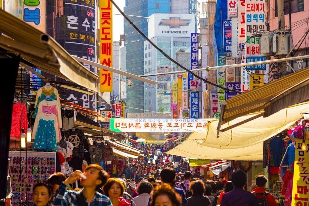 Namdaemun - piac - szöul