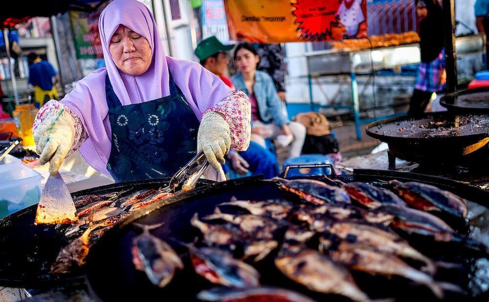 Kampung Baru - éjszakai piac