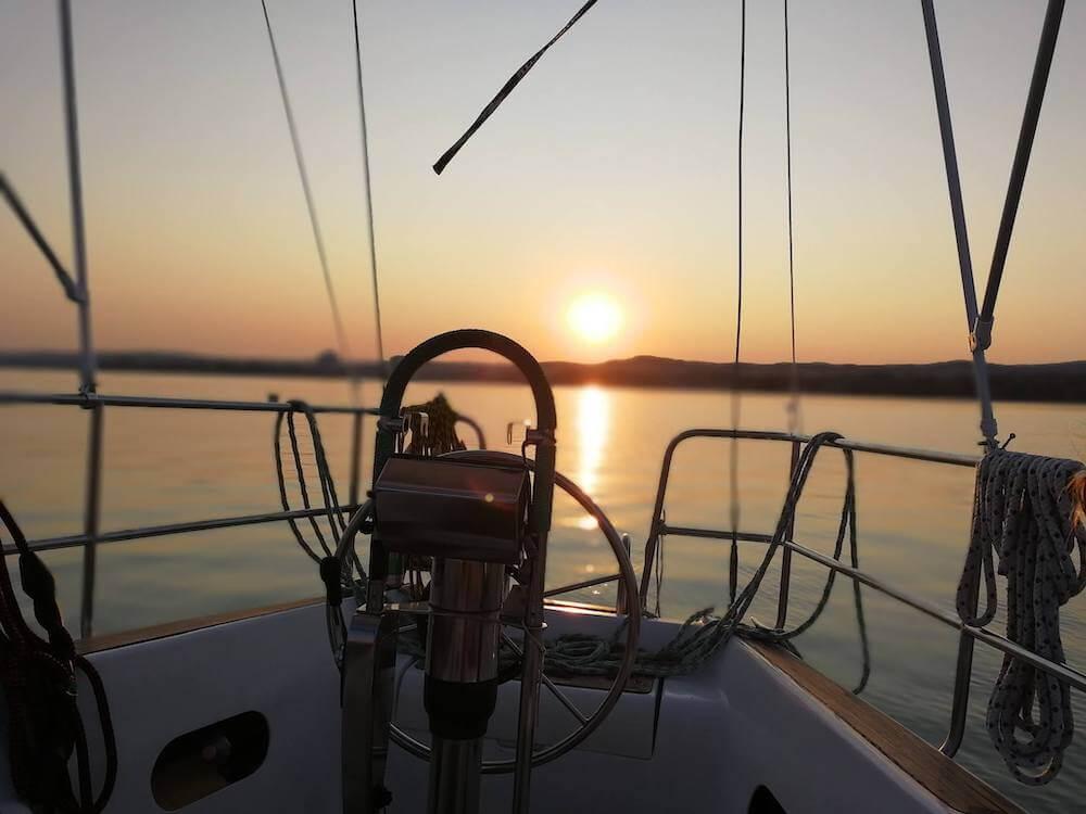 Balaton - vitorlázás - naplemente