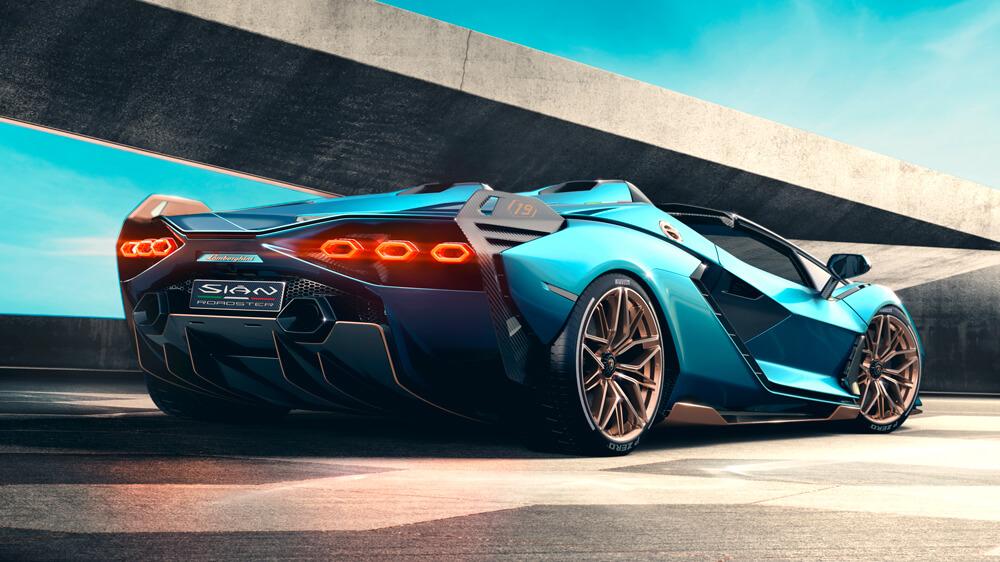 Lamborghini Sian Roadster sportautó