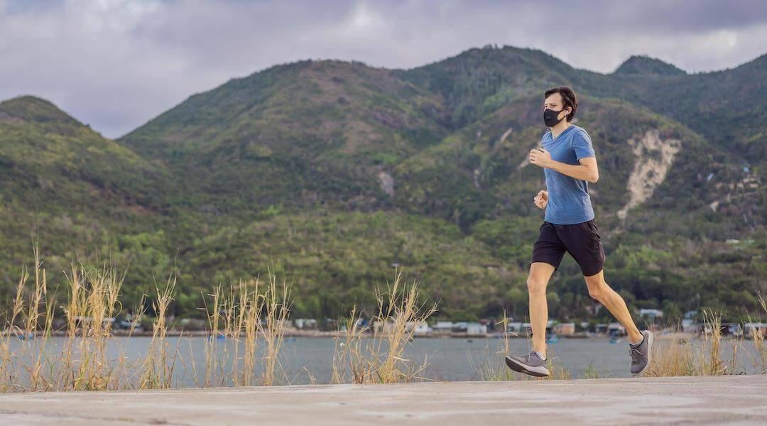 maszk - futás - egészség