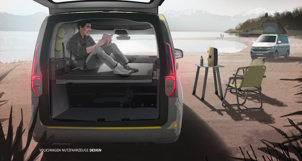 Volkswagen - Mini Camper - illusztráció