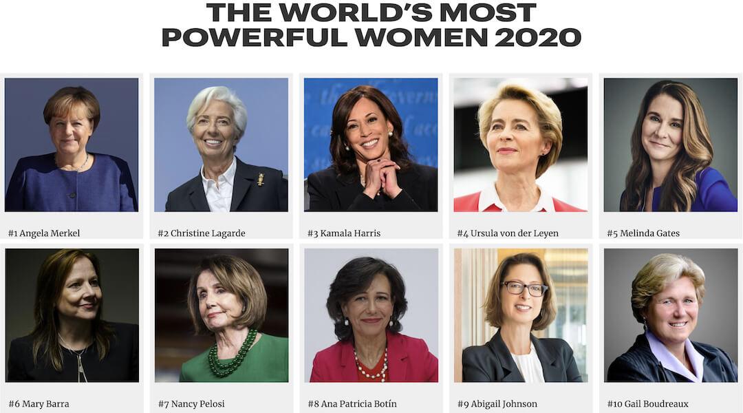 legbefolyásosabb nő 2020