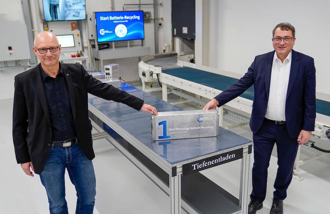 Volkswagen - akkumulátor-újrahasznosító üzem