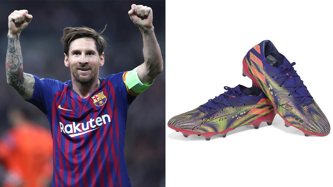 Messi - rekord - cipő - aukció