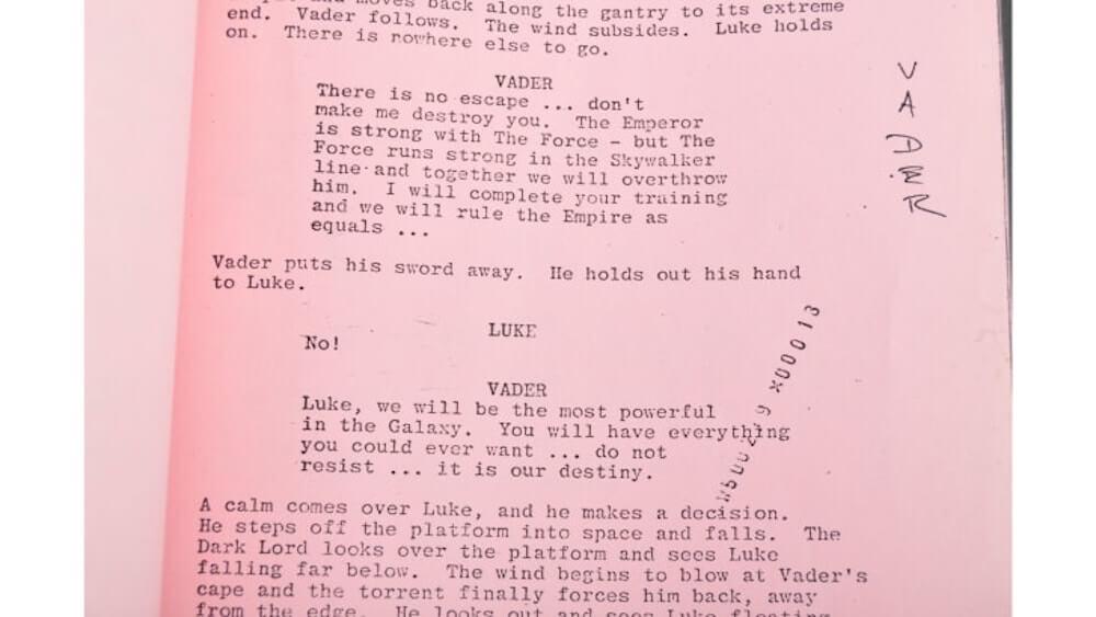 Darth Vader - forgatókönyv
