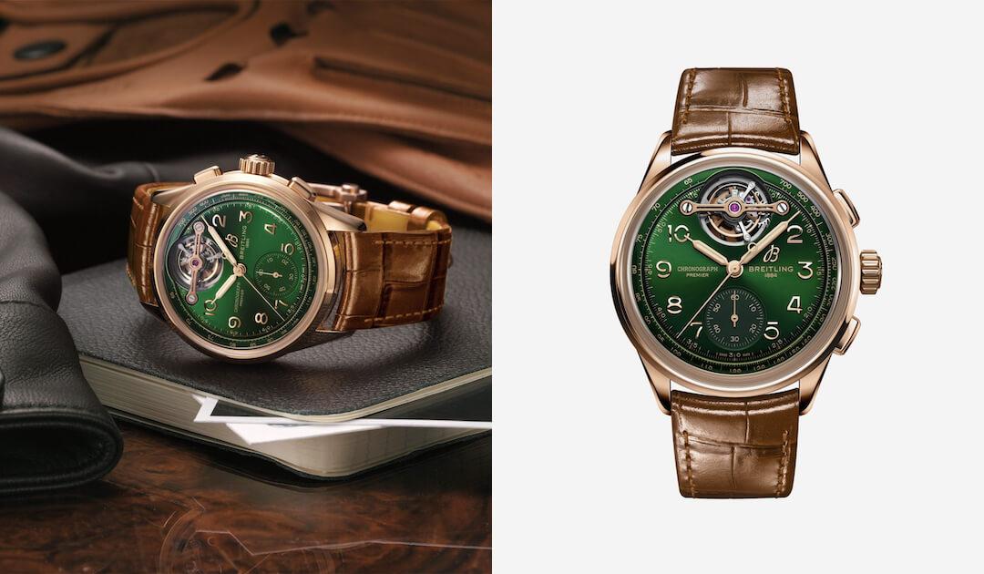 férfi karóra divat - zöld trend - Breitling