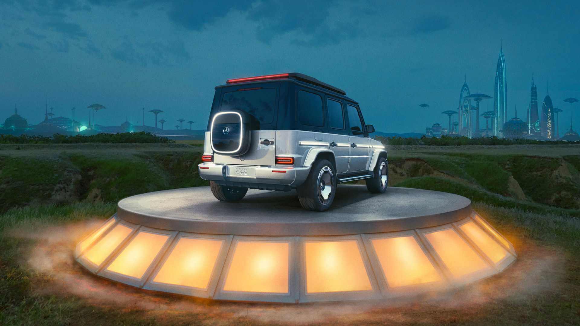 Mercedes-Benz EQG - töltőkábel helye